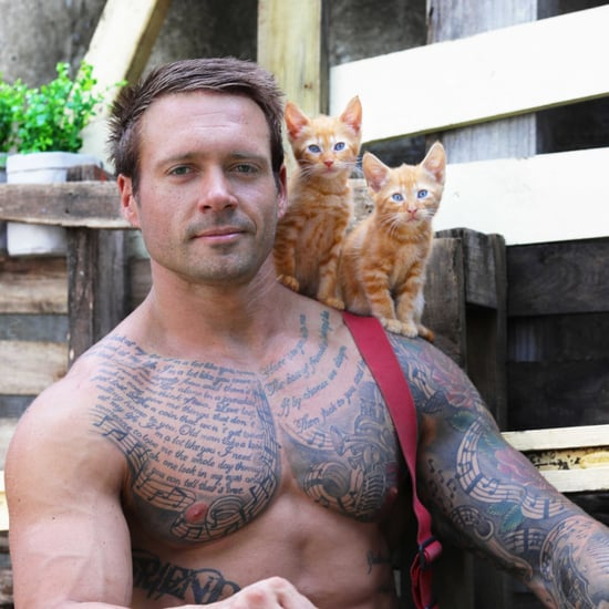 Hot Firemen Posing With Baby Animals