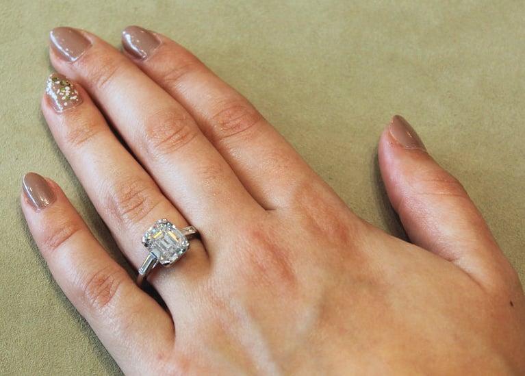 Emerald Cut Diamond Wedding Ring 56 Popular