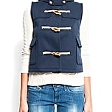 The sweet toggles on this would lend a little prep to your red denim.  Mango Waistcoat ($100)