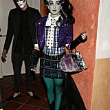 Shenae Grimes wore a wig and face paint for Matthew Morrison's LA party  in 2012.