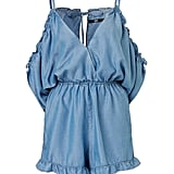 Lyocell Shoulders Out Playsuit, $109.95