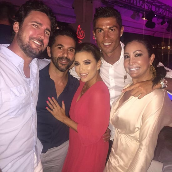 Eva Longoria and Jose Antonio Baston With Cristiano Ronaldo