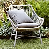 Huron Outdoor Small Lounge Chair and Cushion