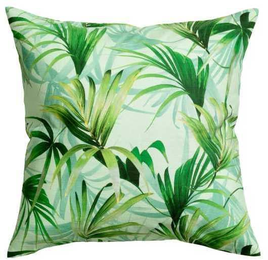 H&M Palm-Patterned Cushion Cover