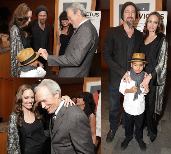 Photos of Angelina Jolie, Brad Pitt, Maddox Jolie-Pitt, Matt Damon at LA Invictus Premiere 2009-12-04 06:00:00