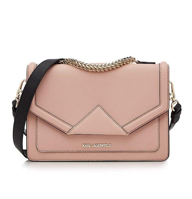 Karl Lagerfeld 'Klassik' Leather Shoulder Bag ($365)