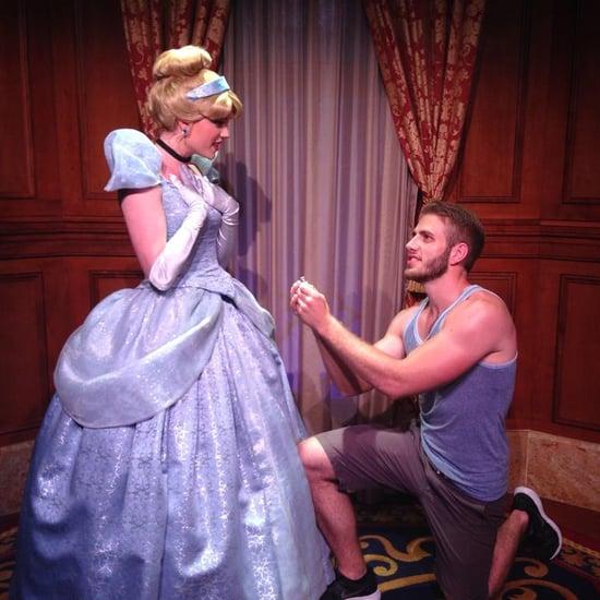 Guy Proposes to Disney Princesses at Disney World