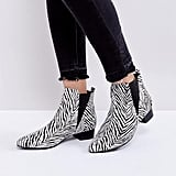 London Rebel Kitten Heel Point Boot