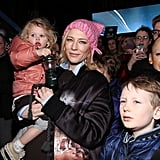 Cate Blanchett and Daughter at Rally in NYC January 2017