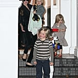 See Angelina Jolie and Her Kids Leaving Gwen Stefani's After a Paint-Filled Playdate!