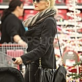 Gwen Stefani Christmas shopping.