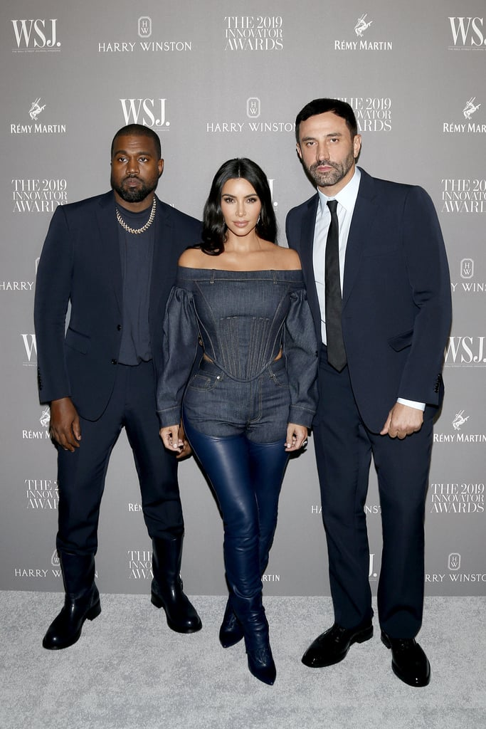 Kim Kardashian, Kanye West, and Riccardo Tisci at the WSJ. Magazine 2019 Innovator Awards