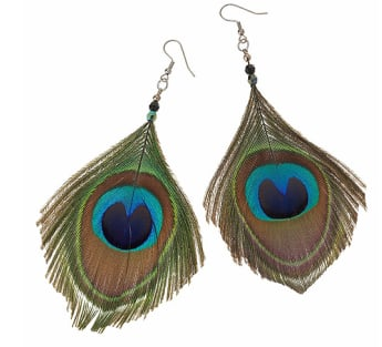 Glitterati: Peacock Earrings
