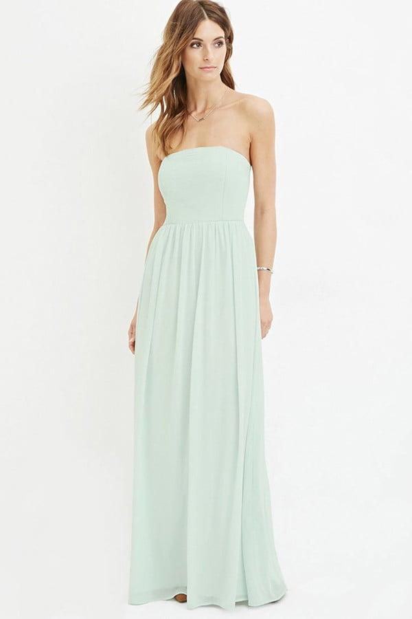1c2708ec534 Forever 21 Contemporary Strapless Chiffon Maxi Dress ( 30 ...