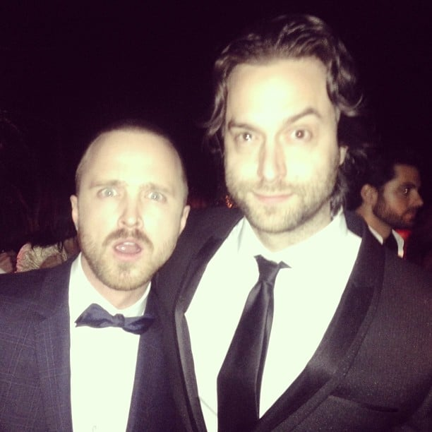 Aaron Paul and Chris D'Elia partied together in style. Source: Instagram user chrisdelia