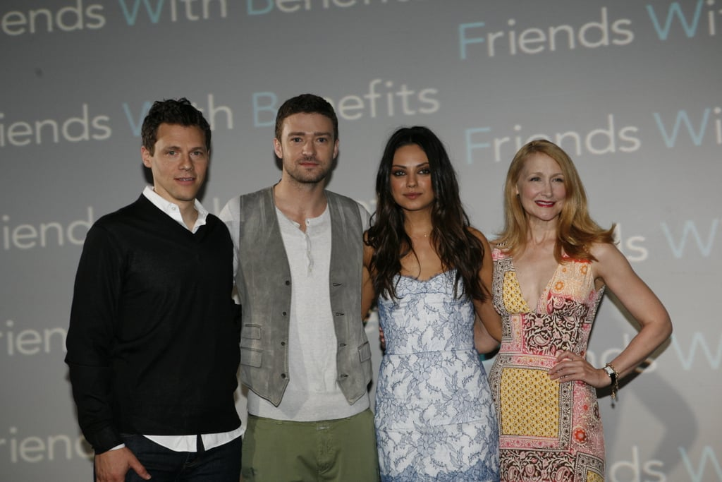 Justin Timberlake and Mila Kunis were joined by Friends With Benefits director Will Gluck and Patricia Clarkson at the Cancun Film Festival.