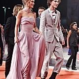 Lily-Rose Depp and Timothée Chalamet at Venice Film Festival