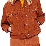Topshop Boxy Oversize Corduroy Jacket