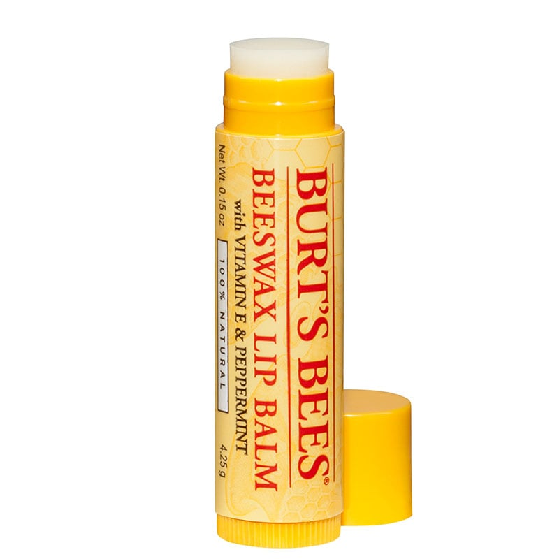Burt's Bees Lip Balm, Beeswax ($3) EWG Rating: 1 A familiar go-to for chapped lips.