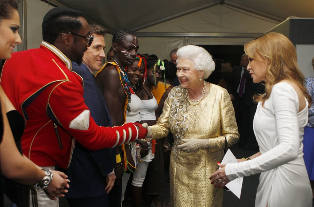 The queen shook hands with Will.i.am at the Diamond Jubilee Concert at Buckingham Palace.
