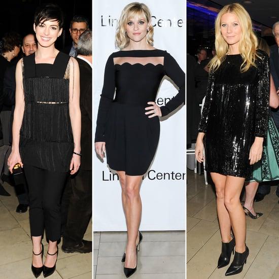 Gwyneth Paltrow in Saint Laurent Sequin Black Dress