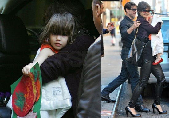 Photos of Tom Cruise, Katie Holmes, and Suri Cruise in New York City