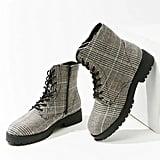 Glen Plaid Ankle Boots