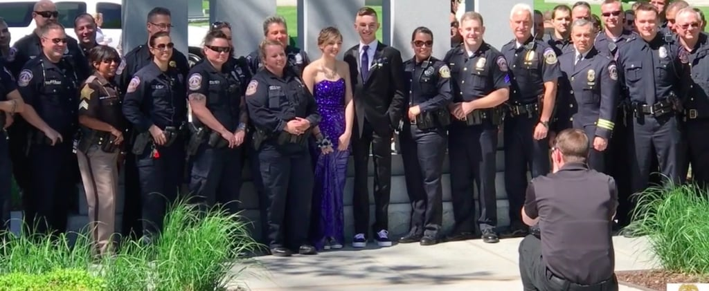 Police Join Daughter of Fallen Officer For Prom Photos