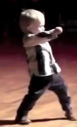 Toddler with Elvis Moves Wows the Crowd (VIDEO)