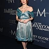 Jessica Chastain hit the blue carpet.