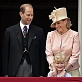 Pictured: Prince Edward, Sophie, Countess of Wessex, and Lady Louise Windsor.