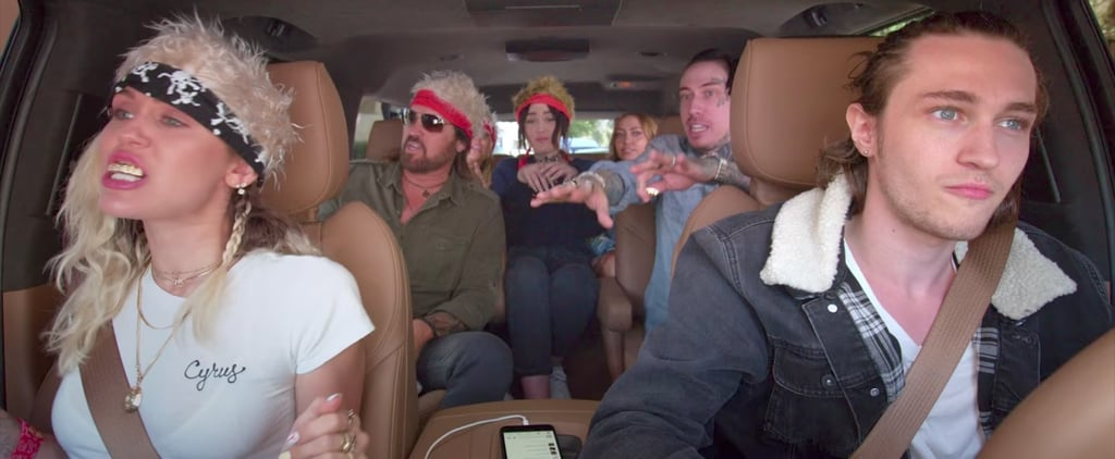 "Miley Cyrus's Entire Family Belts Out ""Achy Breaky Heart"" During Their Carpool Karaoke"