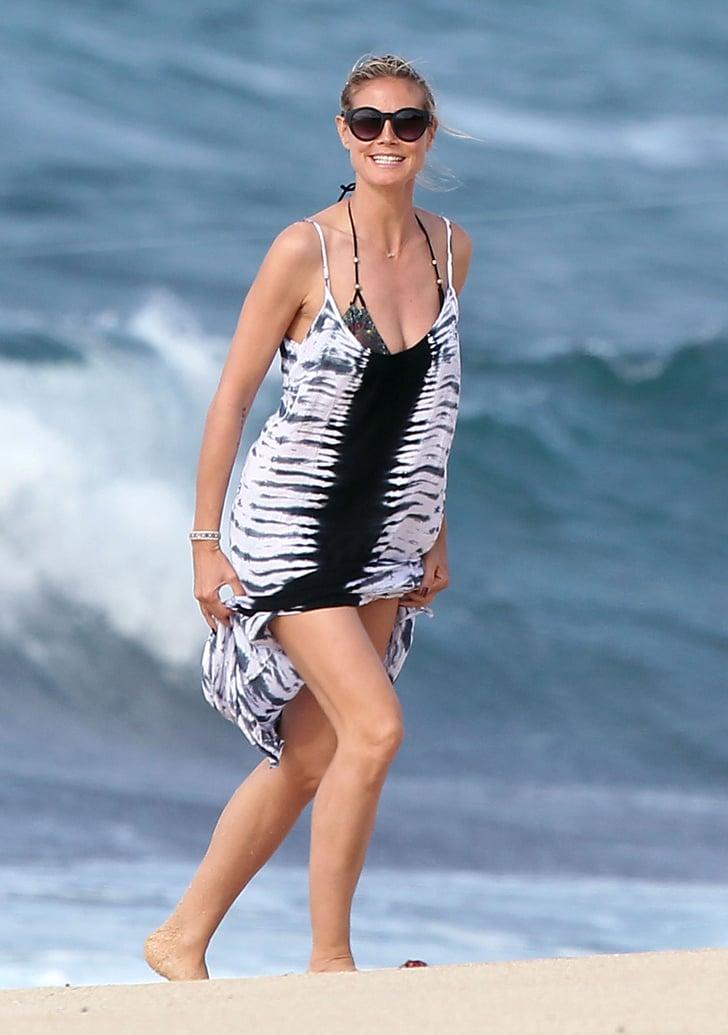Heidi Klum Celebrities In Bikinis Pictures Popsugar