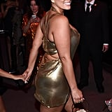 Ashley Graham Gold Dress at the 2019 Met Gala Afterparty