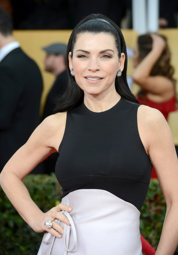 Julianna Margulies posed for cameras at the 19th annual SAG Awards.