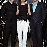 Bérénice Marlohe wore a feather top at a photocall for Skyfall in Paris.
