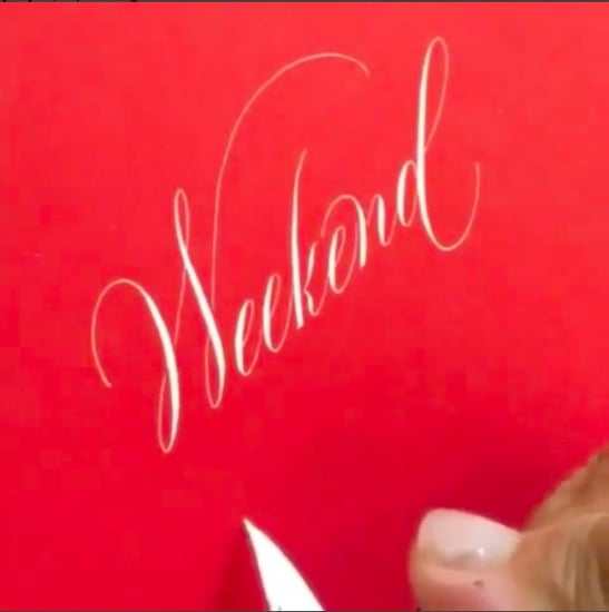 Relaxing Calligraphy Instagram Videos