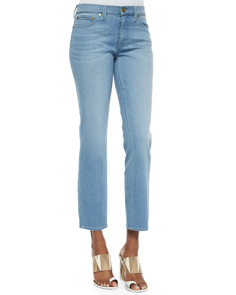 Tory Burch Cropped Straight-Leg Jeans ($195)