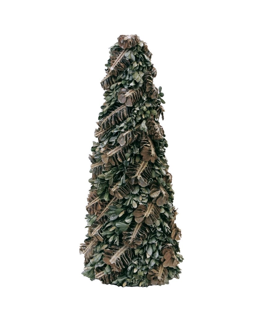 Rustic Pinecones and Leaves Glittered Cone Tabletop Tree