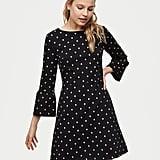 LOFT Bloom Knit Bell Sleeve Dress