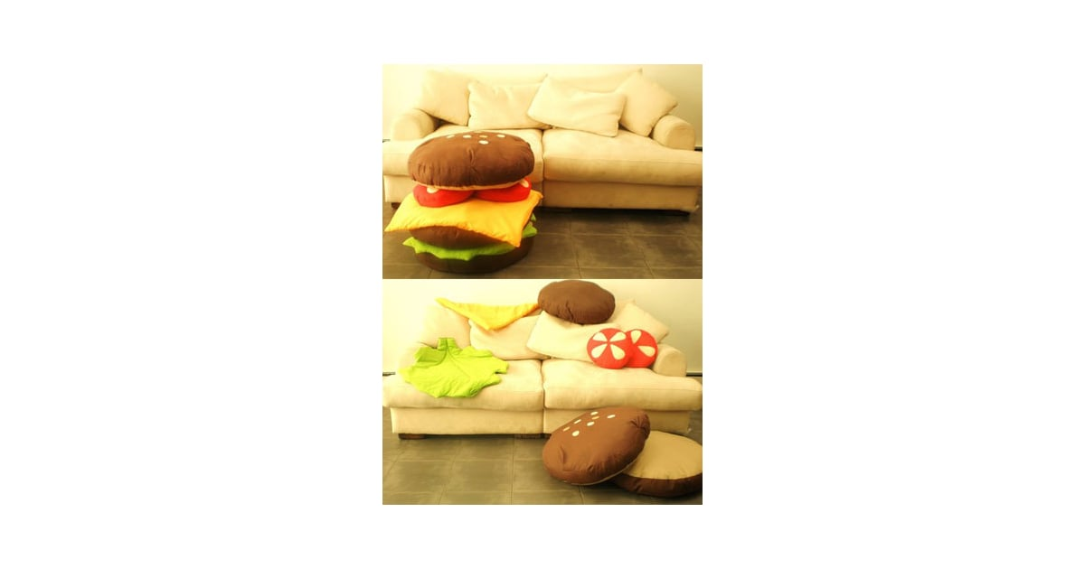 Hamburger Scatter Cushions Popsugar Food - Hamburger-scatter-cushions
