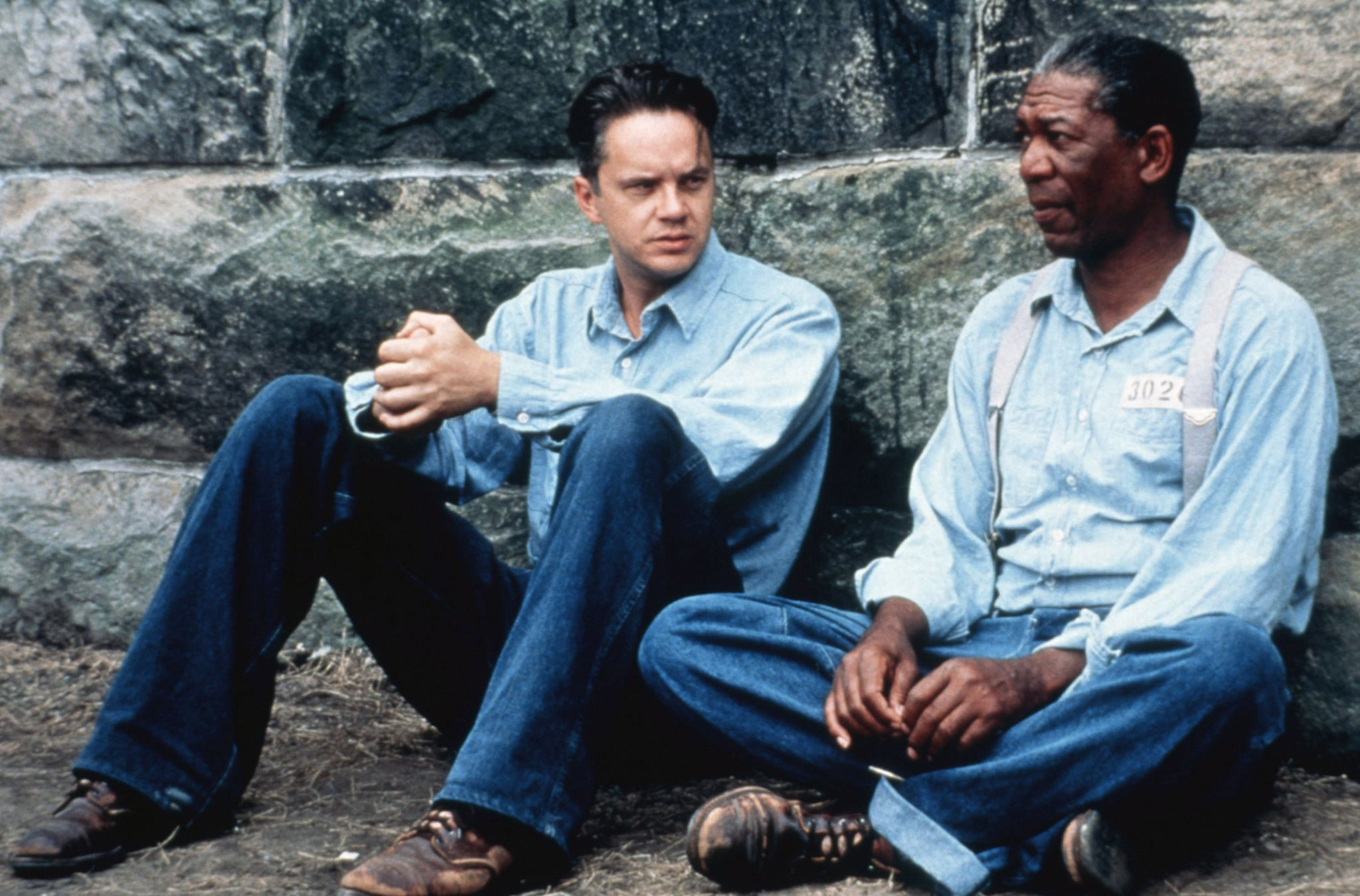THE SHAWSHANK REDEMPTION, Tim Robbins, Morgan Freeman, 1994, (c) Columbia/courtesy Everett Collection