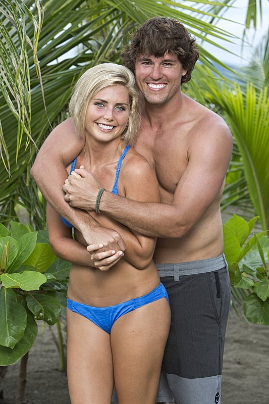 Kat Edorsson and Hayden Moss  Ages: 23 and 26 Relationship: Dating Hometowns: Orlando, FL, and Springtown, TX Occupations: Student and real estate agent Alumni cred: Kat was on Survivor: One World (bonus: Hayden won Big Brother season 12)