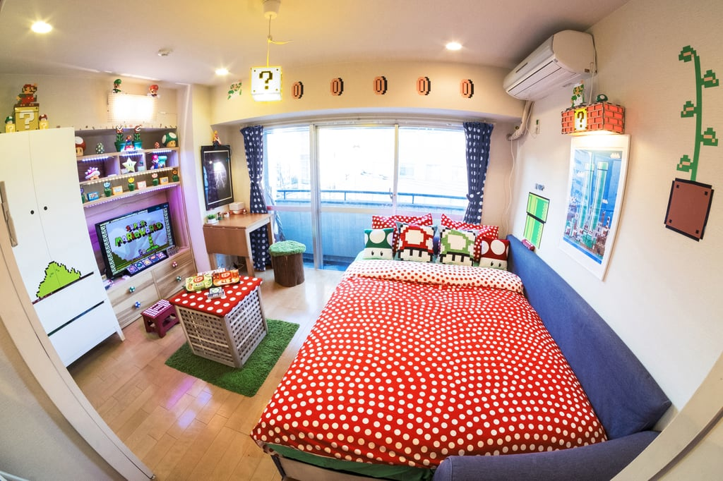 Welcome to the Ultimate Airbnb For Hardcore Mario Fans. Super Mario Bros Airbnb in Tokyo   POPSUGAR Tech