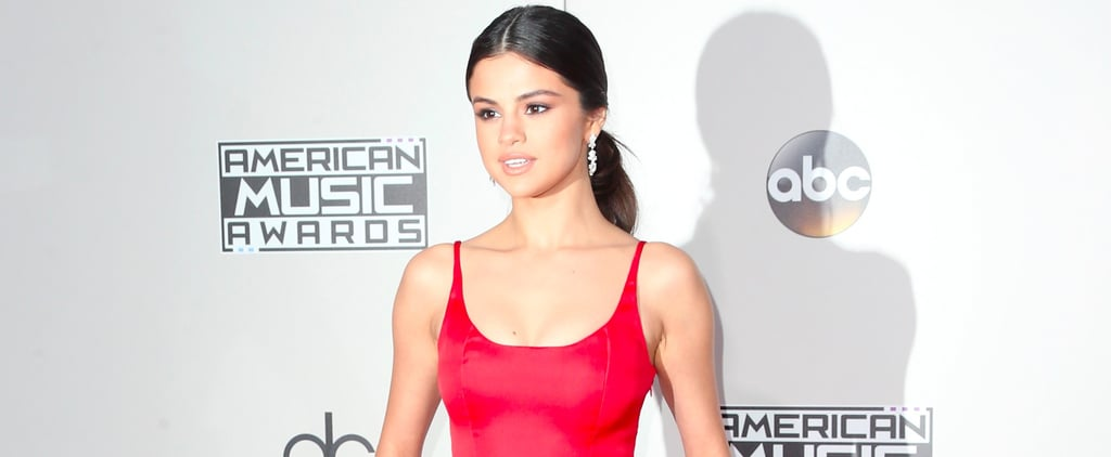 Selena Gomez Is Throwing It Way Back in Her Red AMAs Gown