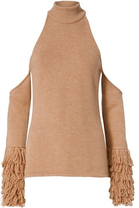 Jonathan Simkhai Cold Shoulder Loopy Yarn Sweater ($525)