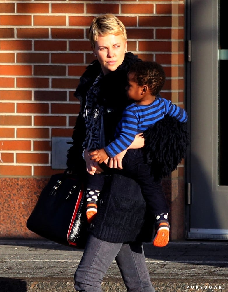 Charlize Theron and her son, Jackson, ran errands in Boston together on Sunday.