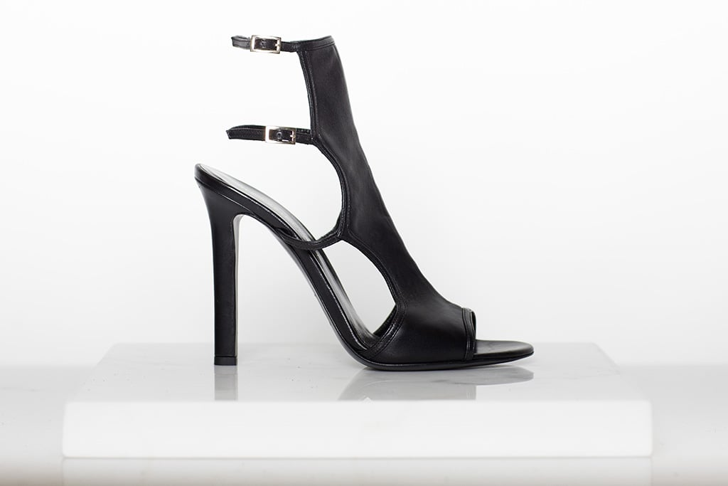 Bad Girl Nappa Open Toe Bootie in Black ($750) Photo courtesy of Tamara Mellon