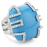 Bryant Park Silver and Turquoise Ring ($198)
