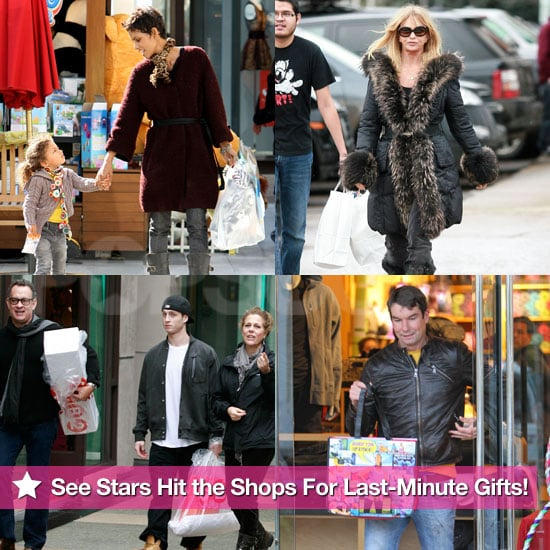 Pictures of Celebrities Holiday Shopping